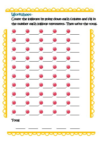 Free counting numbers worksheets for kindergarten